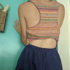 Fun open back boho dress